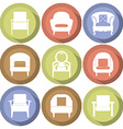 Sofas Icons Set Flat Design vector image