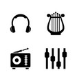 sound music simple related icons vector image vector image