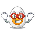 super hero character hard boiled egg ready to eat vector image