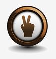victory web icon vector image vector image