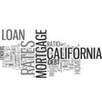 what you should know about california loan rates vector image vector image
