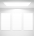 white light with picture frames vector image vector image
