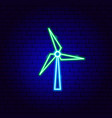 wind power neon sign vector image