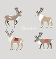 winter character in a flat style reindeer with vector image
