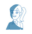 woman business character business portrait vector image vector image