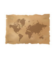 world map on old paper vector image vector image