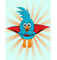 super blue bird vector image