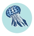 Hand drawn jellyfish Marine life design element vector image