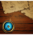 marine theme compass and map vector image
