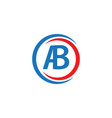 ab company logo template design vector image vector image