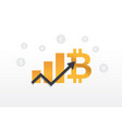 bitcoin growth graph with signs of other currencie vector image vector image