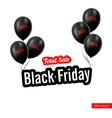 Black Friday Black balloons vector image vector image