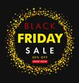 black friday sale on yellow stars vector image