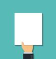 blank sheet Stock vector image vector image