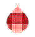 blood drop halftone dotted icon vector image