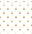 Carrot pattern cartoon style vector image