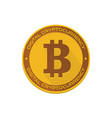 cartoon golden bitcoin vector image
