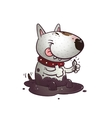 Cheerful cartoon Bullterrier vector image