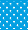 cloud with hail pattern seamless blue vector image vector image