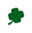 clover of the green icon lucky happy vector image