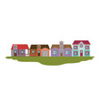 colorful silhouette of country houses several vector image