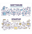 creative concept of software and technology vector image vector image