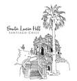 drawing sketch santa lucia hill vector image vector image