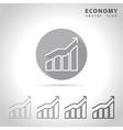 Economy outline icon vector image vector image