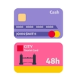 Flat money card isolated on white vector image vector image