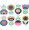 flower art print in scandinavian style vector image vector image