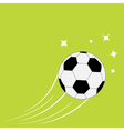 Flying football soccer ball motion trails stars vector image vector image