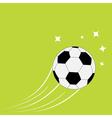 Flying football soccer ball motion trails stars vector image vector image