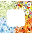 Four seasons frame - spring summer autumn winter vector image vector image