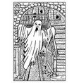 ghost engraved fantasy vector image vector image