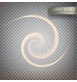glitter magic sparkle swirl trail effect vector image vector image