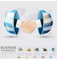Global Business And Financial Handshake vector image