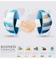 Global Business And Financial Handshake vector image