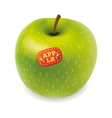 Green apple isolated on white vector image vector image