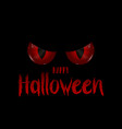 halloween background with evil eyes vector image vector image