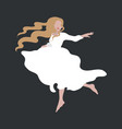 hand drawn fashion girl in white vector image