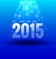 Happy new year 2015 under light vector image vector image