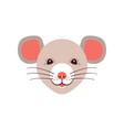 icon rat cute muzzle mouse cartoon rat head vector image vector image