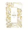 italian pasta design template hand drawn food vector image vector image