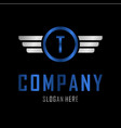 letter t automotive creative business logo vector image vector image