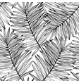 lush tropics foliage background tropical seamless vector image vector image