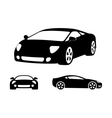 luxury car silhouettes vector image vector image