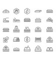 mattress icons soft latex foam memory symbols vector image vector image