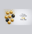 merry christmas and happy new year banner holiday vector image vector image