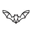 monoline bat logo vector image vector image