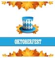 Oktoberfest celebration design with Bavarian hat vector image vector image